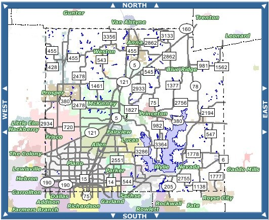 MAPS OF COLLIN COUNTY TX  COLLIN COUNTY MAGAZINE DFW