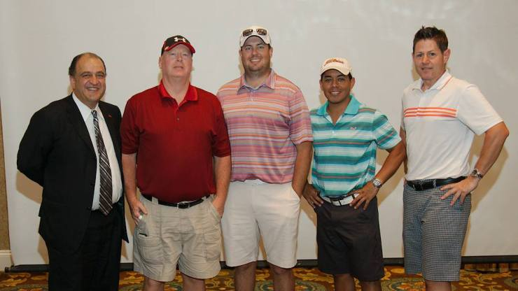 The First Place Team starting with Frisco Mayor Maher Maso, Bradley McGraw, Broc Parker, Adrian Avila and Brian Kennedy