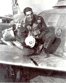 Sam Johnson after downing a North Korean MiG and before joining the Air Force Thunderbirds as a solo pilot.
