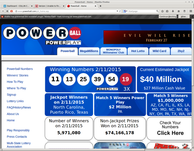 One of three winning PowerBall tickets was sold Wednesday in Princeton, Texas.
