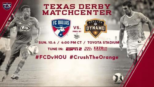 Tune in to FC Dallas vs. the Houston Dynamo on Sunday