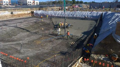 Take a look! Concrete is being poured today for the Aquatic and Fitness Center Pool - Gabe Nesbitt Community Park!