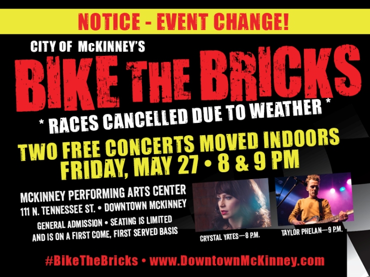 Severe weather forced a decision to cancel the annual Bike the Bricks event in McKinney TX